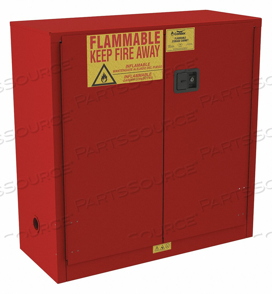 FLAMMABLE CABINET STANDARD 30 GAL. 44 H by Condor