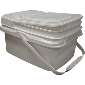 ONE GALLON BUCKET WITH LID AND HANDLE, POLYPROPYLENE, WHITE by Contec