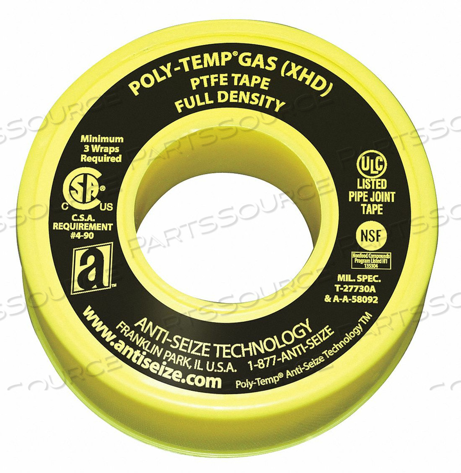 GAS LINE SEALANT TAPE 1/2 X 260 IN by Anti-Seize Technology