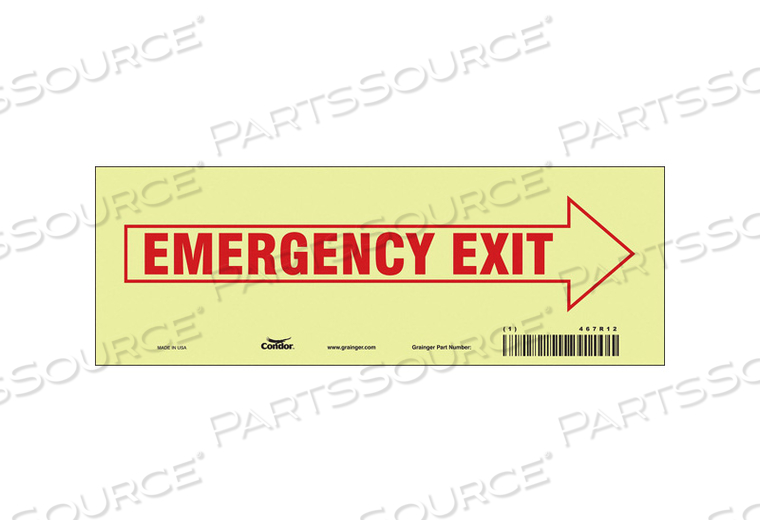 J7041 SAFETY SIGN 3.5 X10 VINYL by Condor