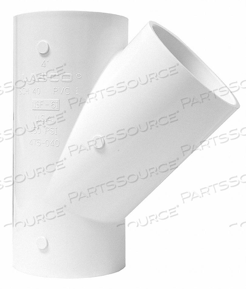 WYE PVC 40 4 IN. SLIP X SLIP by Lasco