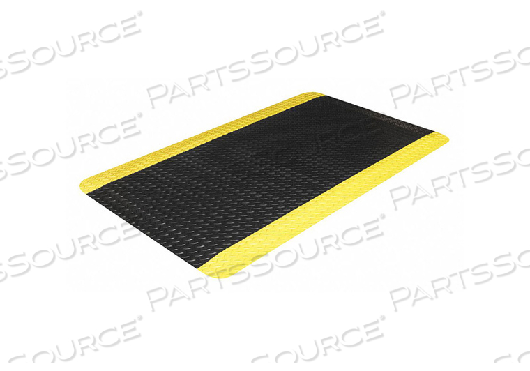 ANTIFATIGUE MAT BLACK 2 FT W X 3 FT L by Ability One