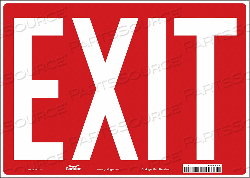 SAFETY SIGN EXIT 10 X14 by Condor