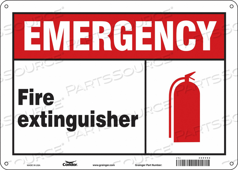 SAFETY SIGN 14 W 10 H 0.070 THICKNESS by Condor