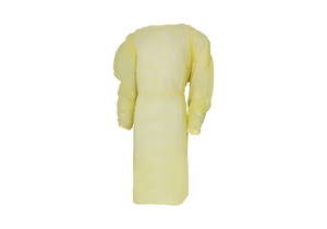PROTECTIVE PROCEDURE GOWN, ONE SIZE FITS MOST, YELLOW, NONSTERILE, DISPOSABLE (10/PK) by McKesson