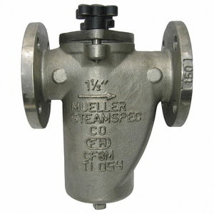 BASKET STRAINER 304 SS 4 FLANGED VITON by Mueller Steam Specialty