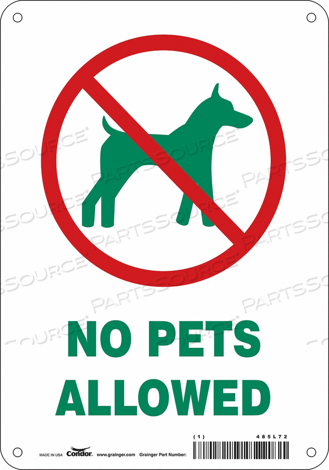 SAFETY SIGN 7 WX10 H 0.055 THICK by Condor