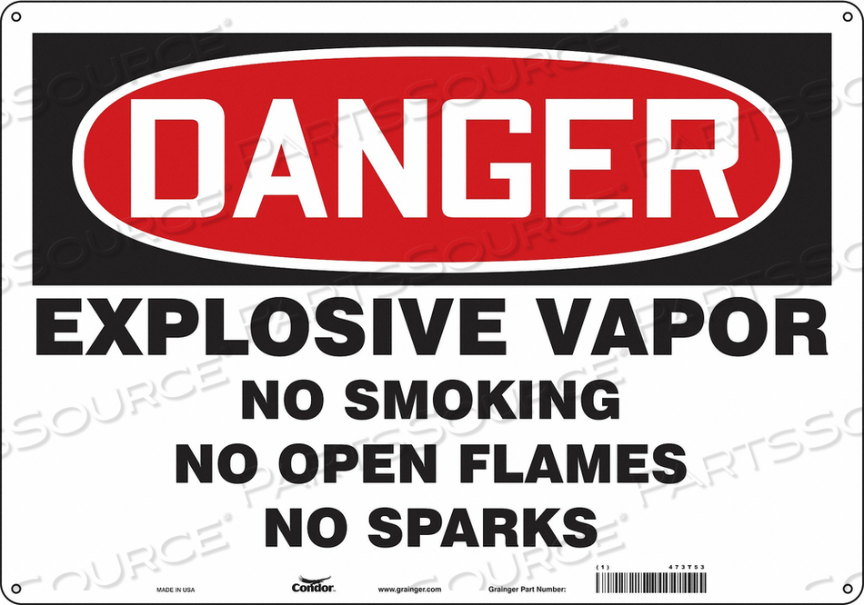NO SMOKING SIGN 20 WX14 H 0.055 THICK by Condor