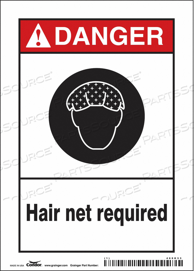 SAFETY SIGN 5 W 7 H 0.004 THICKNESS by Condor