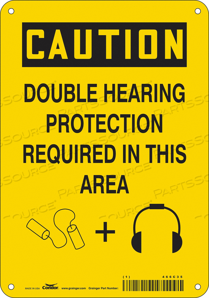 J6949 SAFETY SIGN 7 W 10 H 0.060 THICKNESS by Condor