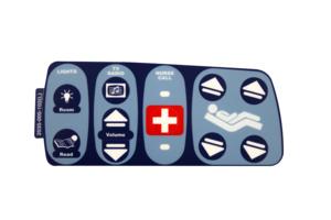 STANDARD NURSE CONTROL LEFT LABEL, COMM I/L by Stryker Medical