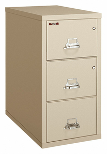 VERTICAL FILE W/ SAFE 3 DRAWER LEGAL by Fire King