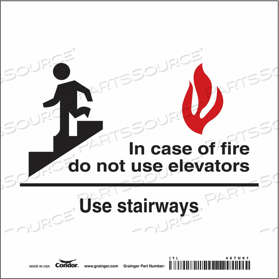 J7009 SAFETY SIGN 7 X7 VINYL by Condor