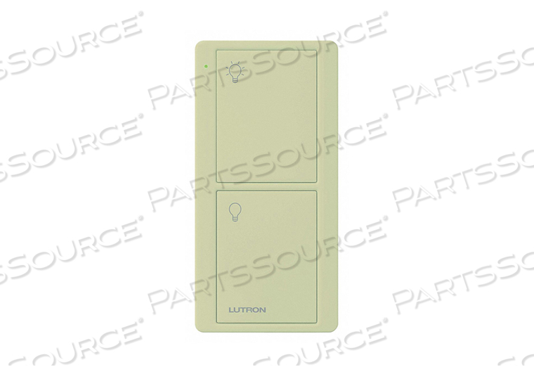 WIRELESS REMOTE CONTROL 2 BUTTONS IVORY by Lutron