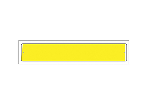 VISIBILITY STRIP YELLOW 12 X 2IN PK25 by Electromark