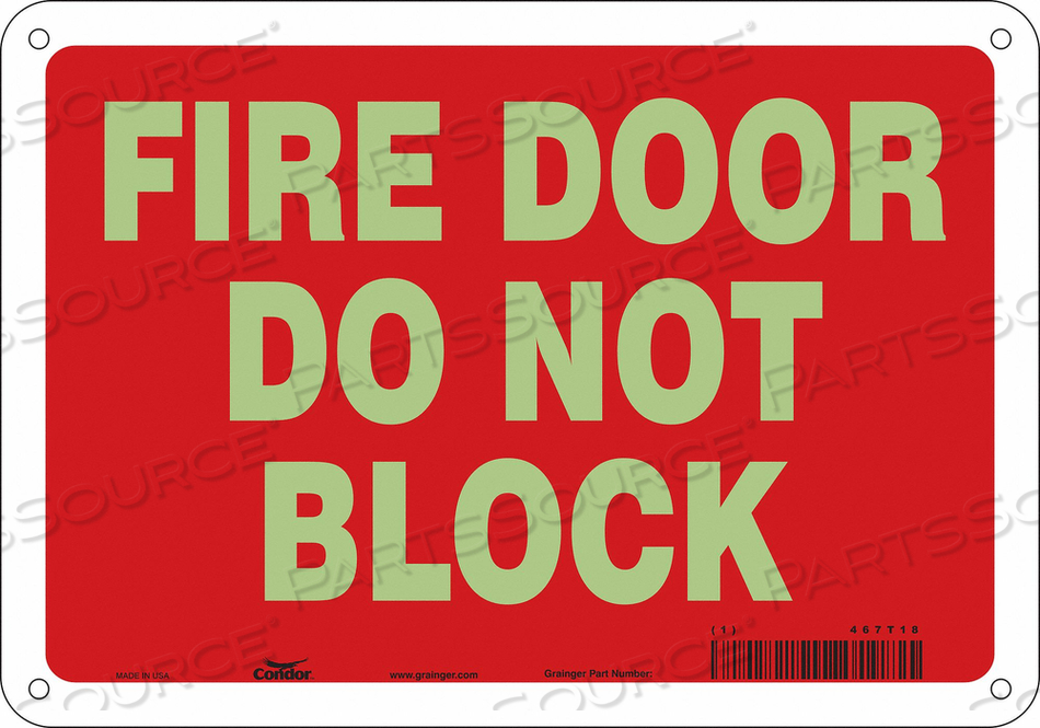 J7045 SAFETY SIGN 7 X10 PLASTIC by Condor