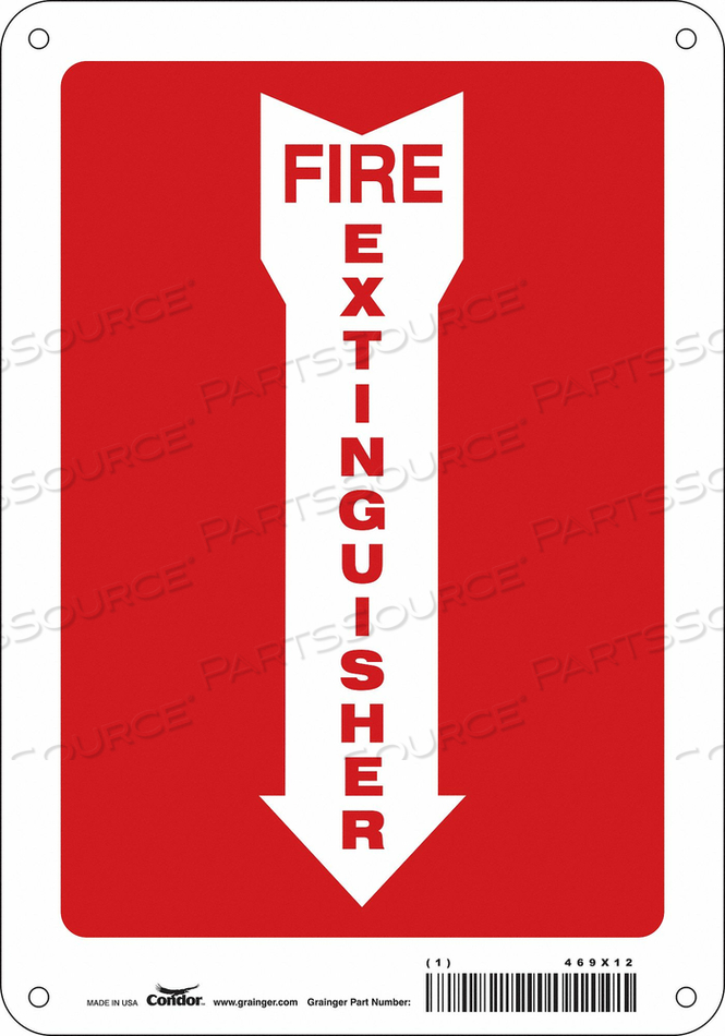 J6987 SAFETY SIGN 7 W 10 H 0.055 THICKNESS by Condor