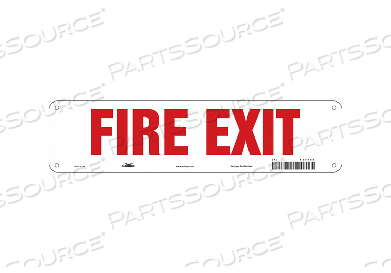 J7048 SAFETY SIGN 3.5 X14 PLASTIC by Condor