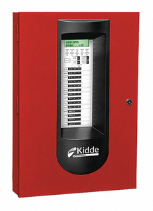 ALARM CONTROL PANEL RED 16-1/4 W STEEL by Kidde