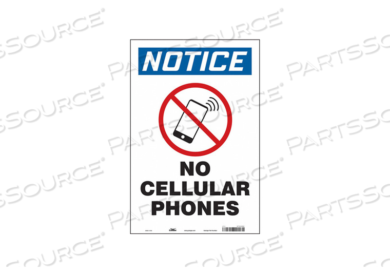 SAFETY SIGN 12 W 18 H 0.004 THICKNESS by Condor