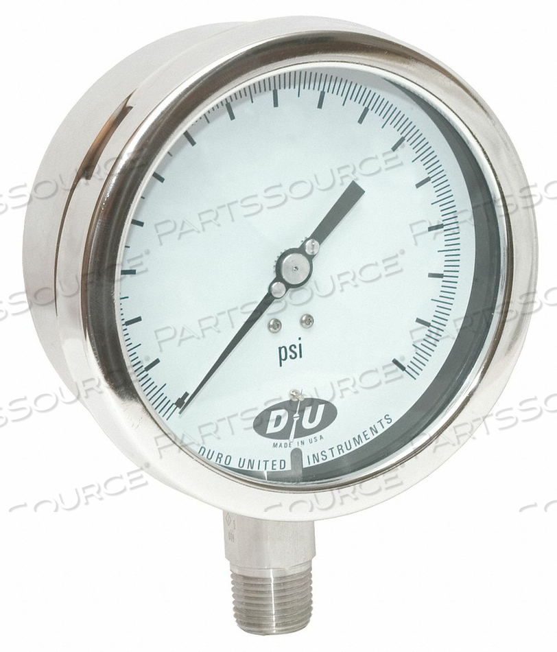 D7959 PRESSURE GAUGE 0 TO 15 PSI 4-1/2IN 1/2IN by Duro
