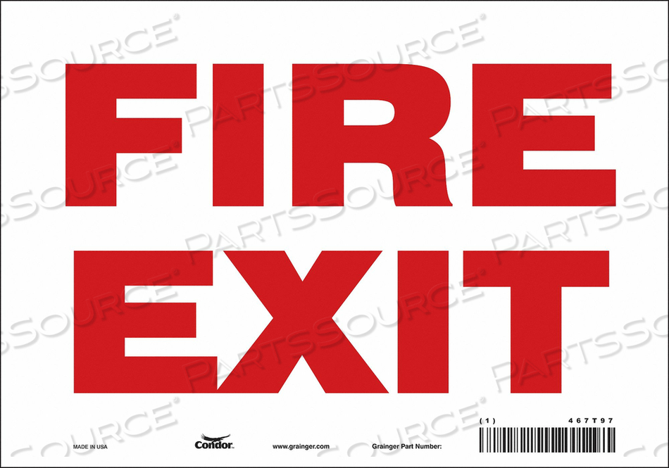 J7048 SAFETY SIGN 7 X10 VINYL by Condor