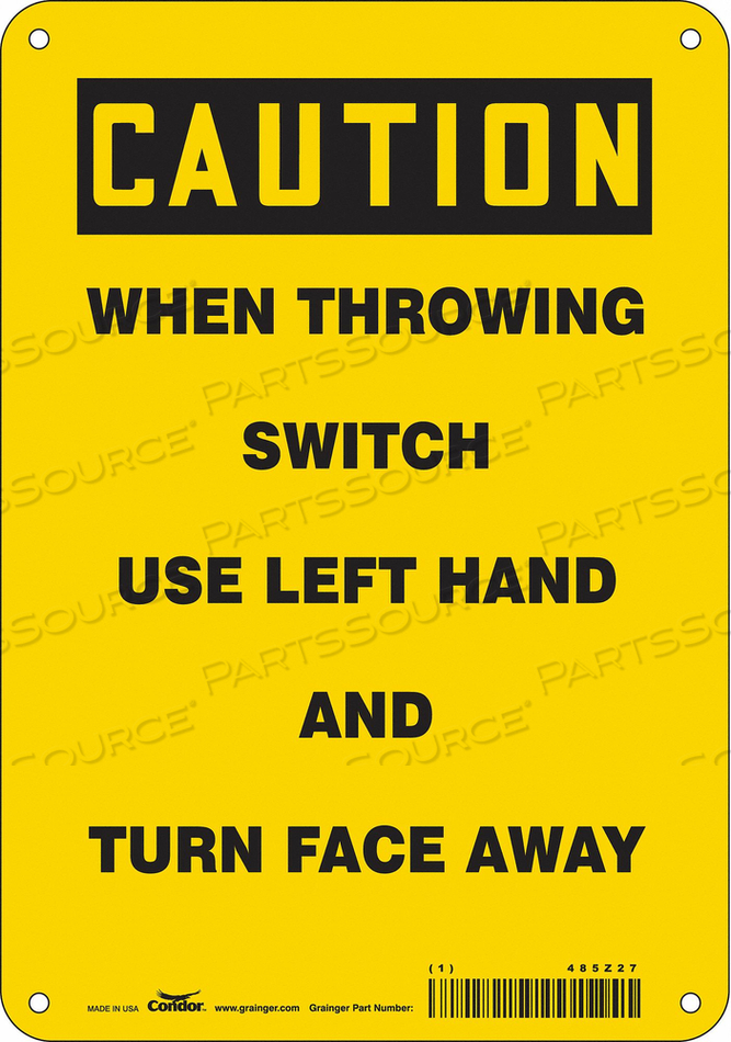ELECTRICAL SIGN 7 W 10 H 0.055 THICK by Condor