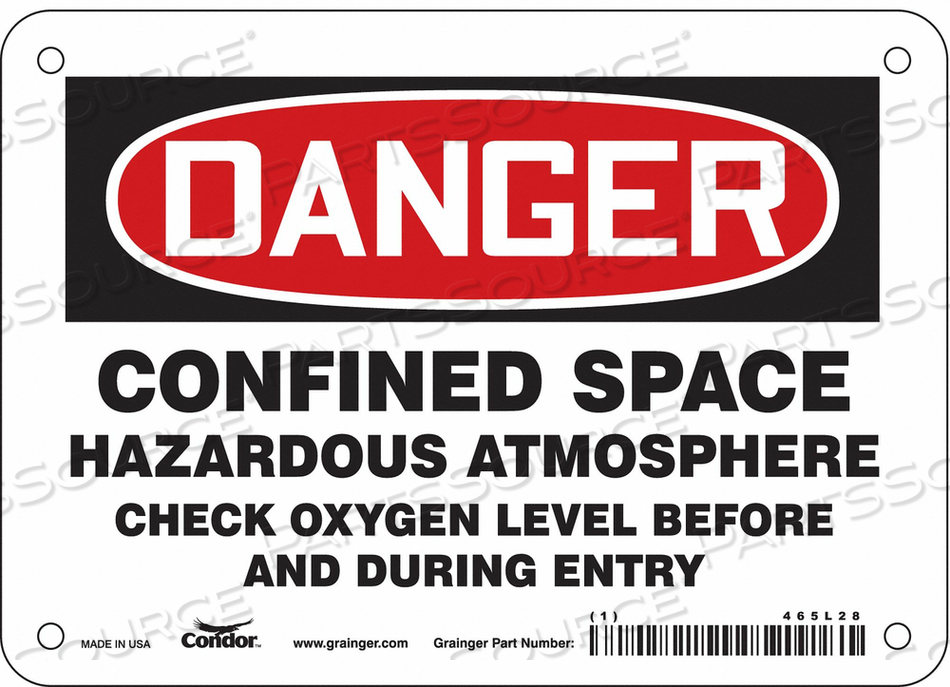J6918 SAFETY SIGN 5 H 7 W VINYL by Condor