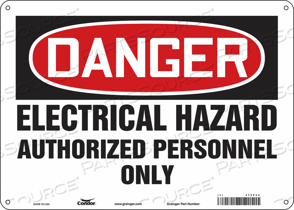 J6925 SAFETY SIGN 14 W 10 H 0.060 THICKNESS by Condor