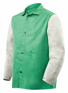 D2607 FLAME-RESISTANT JACKET GREEN/GRAY M by Steiner