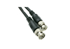 25FT RG-59U BNC MALE COAXIAL CABLE - BLACK by CableWholesale.com