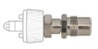 QUICK CONNECT ADAPTER, DISS MALE, GREEN, OXYGEN by Precision Medical, Inc.