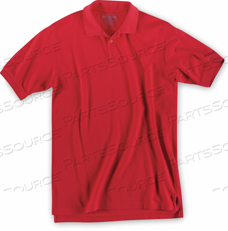 SHORT SLEEVE UTILITY POLO XL RANGE RED by 5.11 Tactical