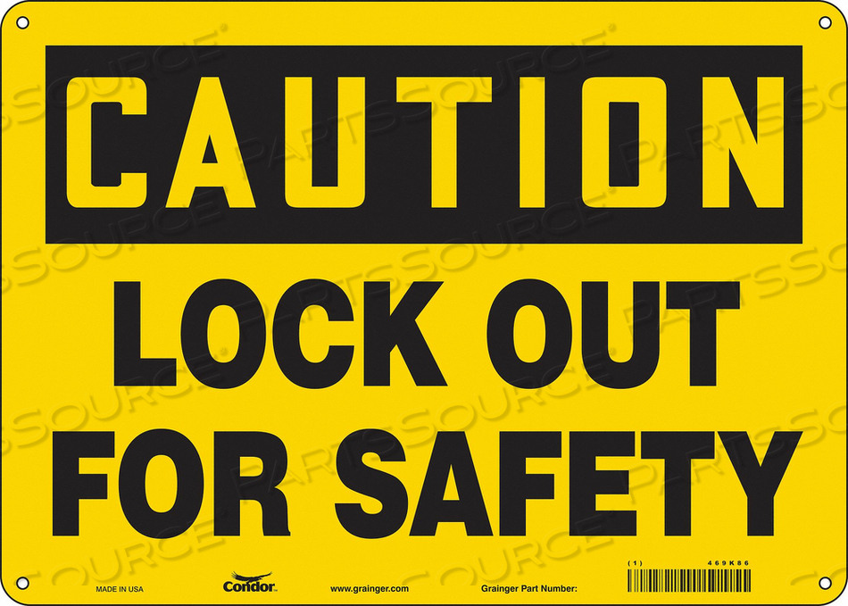 K0106 SAFETY SIGN 14 W 10 H 0.032 THICKNESS by Condor