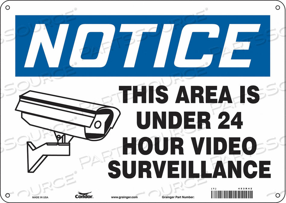 SECURITY SIGN 10 H 14 W ALUMINUM by Condor