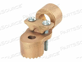 PANDUIT STRUCTURED GROUND MECHANICAL CONNECTORS HEAVY DUTY BRONZE HUBS - GROUNDING CLAMP KIT - 2.4 IN by Panduit