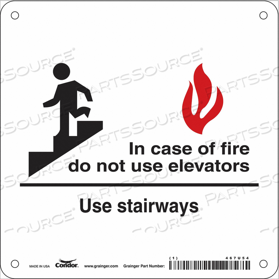 SAFETY SIGN 7 X7 PLASTIC by Condor