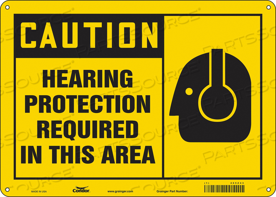 K2004 SAFETY SIGN 14 W 10 H 0.055 THICKNESS by Condor