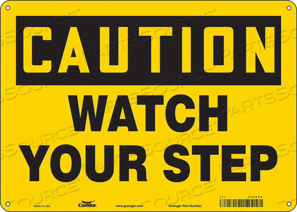 J6974 SAFETY SIGN 14 W 10 H 0.060 THICKNESS by Condor