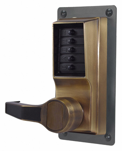 PUSH BUTTON LOCKSET 10000 LEFT LEVER by Kaba