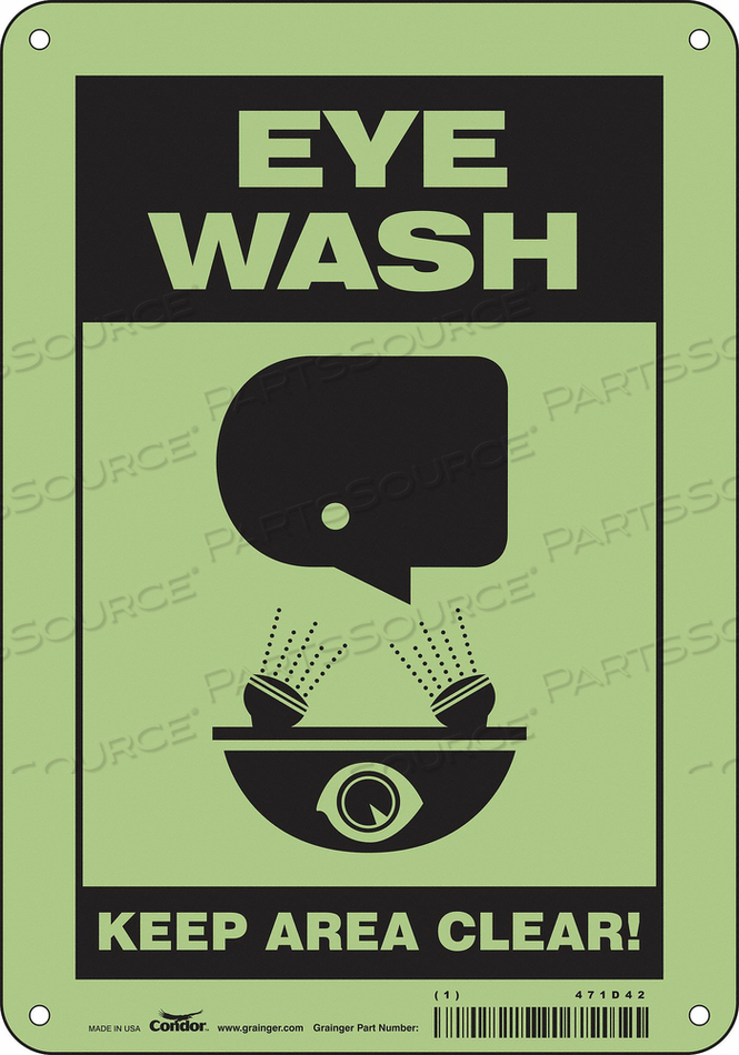 SAFETY SIGN 7 W X 10 H 0.070 THICK by Condor
