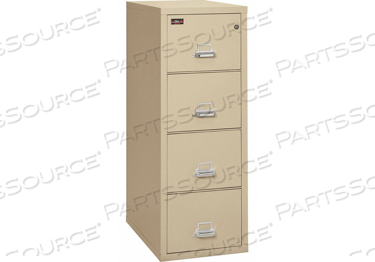 FR FILING CABINET 4 DRAWRS LTTR PARCHMNT by Fire King