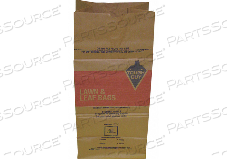 COMPOSTABLE TRASH BAG 30 GAL. BROWN PK5 by Tough Guy
