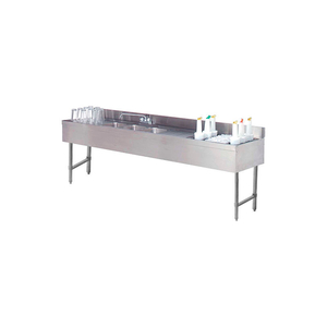 """COMBO UNIT, 4 COMP SINK, 96""""L (2) 12"""" DRAINBOARDS, 24"""" COCKTAIL UNIT RIGHT by Advance Tabco"""