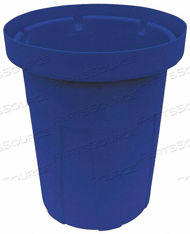 TRASH CAN 55 GAL. BLUE by Tough Guy