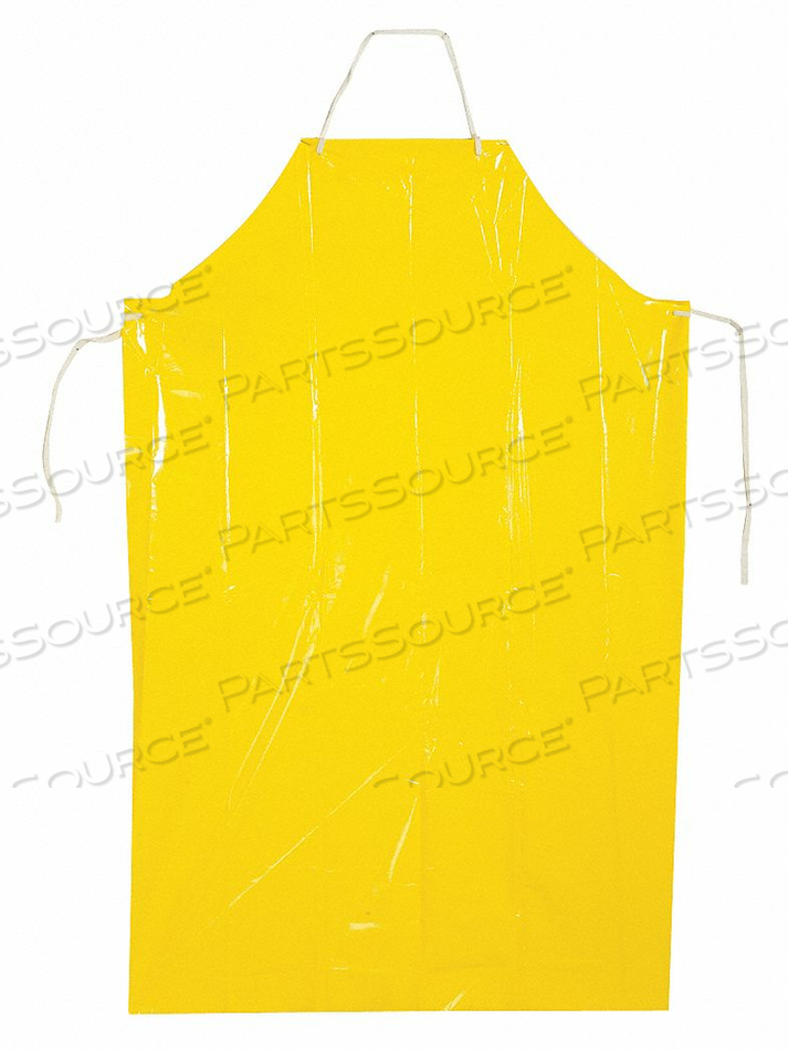 GROMMET APRON YELLOW 45 IN L PK100 by Polyco