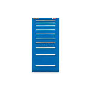 """30""""W MODULAR CABINET 10 DRAWERS W/DIVIDERS, 59""""H, KEYED ALIKE LOCK-TEXTURED REGAL BLUE by Equipto"""