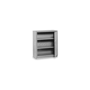 """COUNTER HIGH CABINET, 36""""W X 24""""D X 42""""H, TEXTURED DOVE GRAY by Equipto"""
