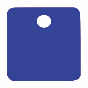 BLANK TAG SQUARE BLUE PK5 by C.H. Hanson