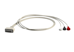 3 LEAD SNAP ECG CABLE by Advantage Medical Cables, Inc (AMC)